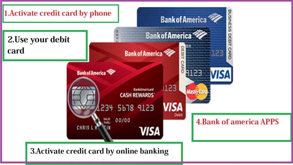 activation of bank of america card